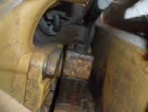 Transmission oil leak on a D6 CAT .